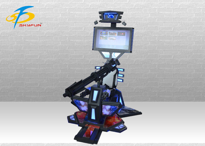 Amusement Park Interactive Gun - Shooting HTC VR Simulator / 9D Virtual Reality Gatling VR Machine
